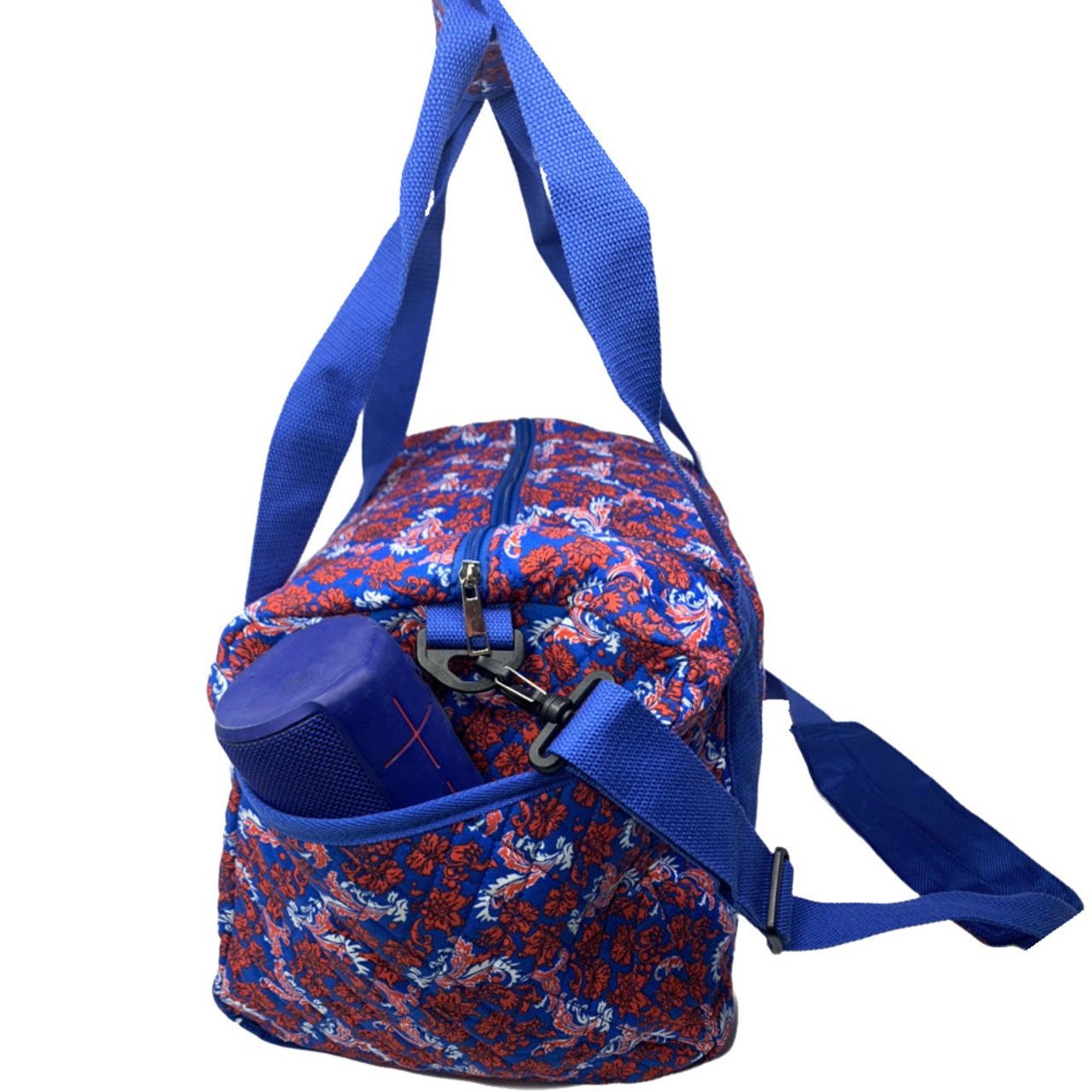 Kansas Jayhawks KU Duffel Bag Bloom Quilted Mini Travel Bag