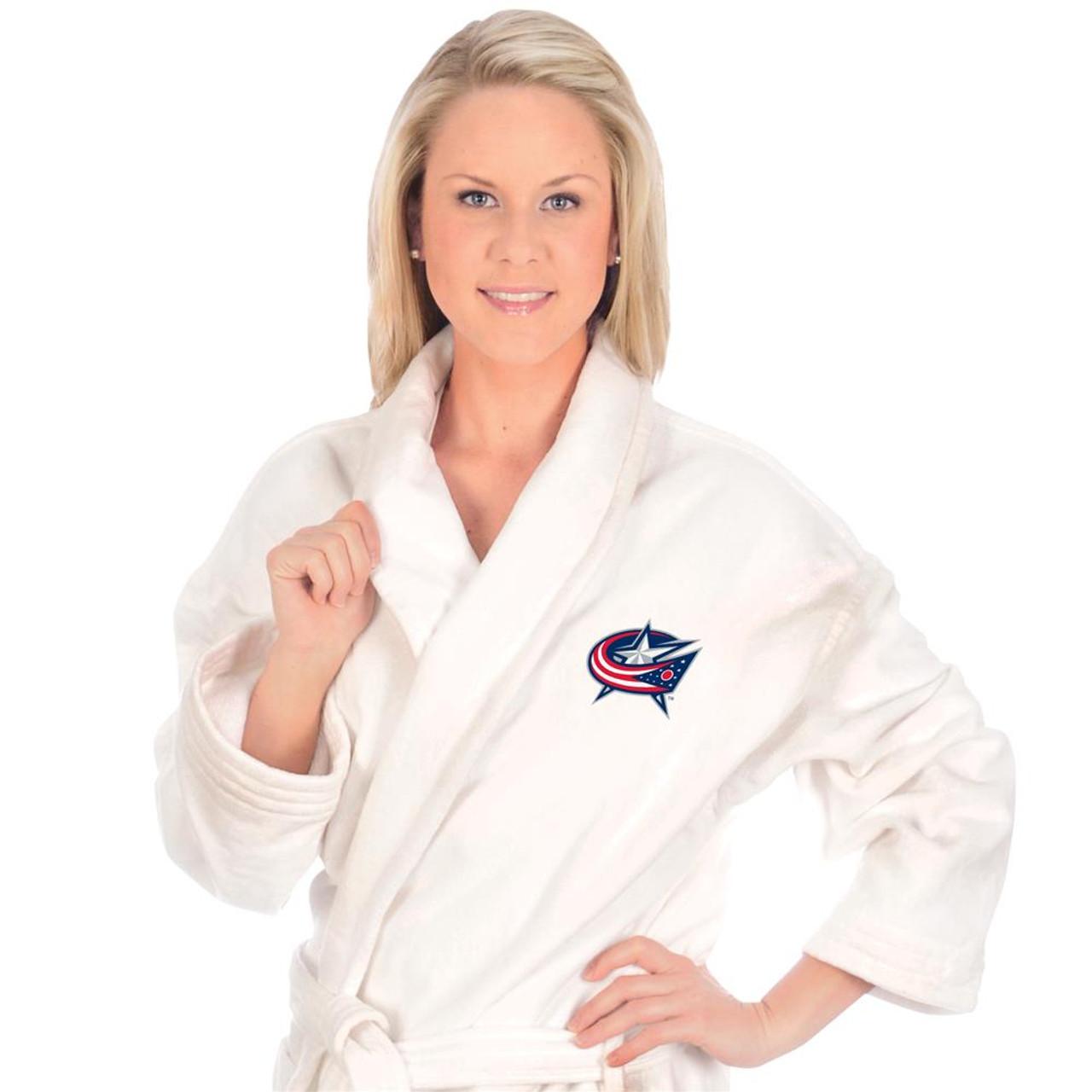 Columbus Blue Jackets Heavy Weight Bath Robe White House Coat