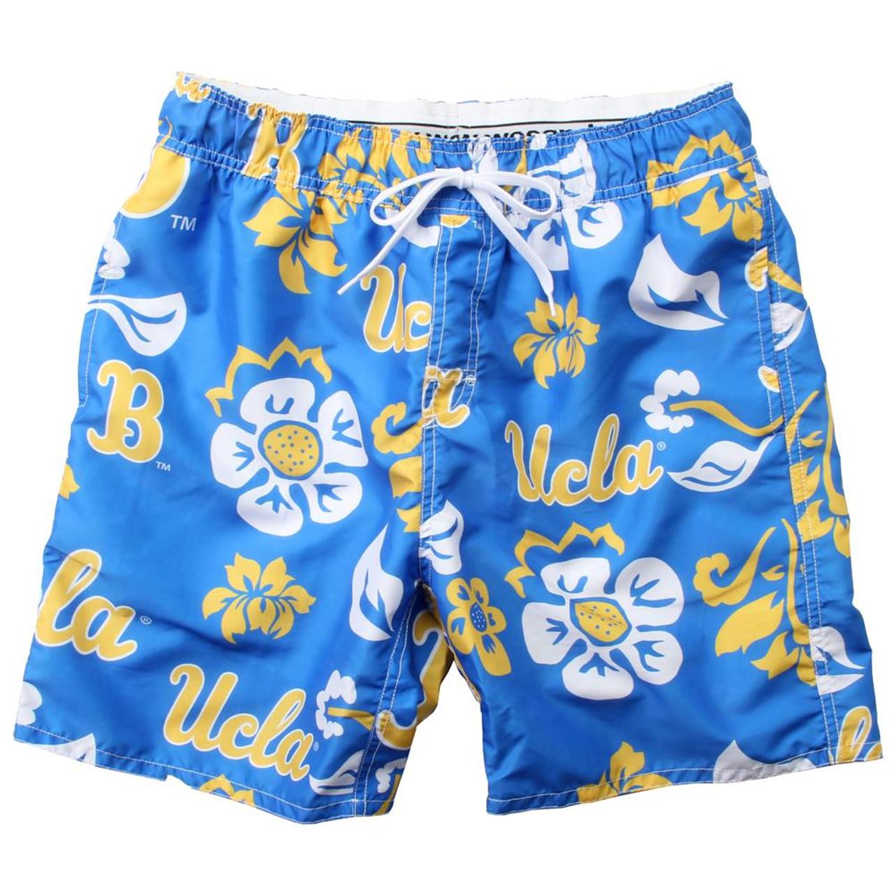 Men's UCLA Bruins Swim Trunks Floral Swim Shorts