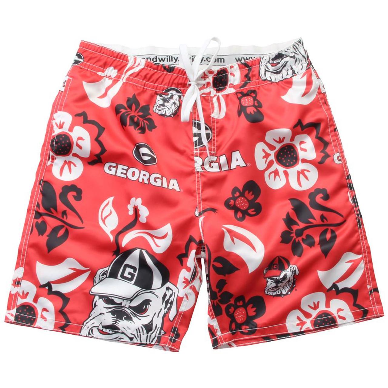 Men's Georgia Bulldogs UGA Swim Trunks Floral Swim Shorts