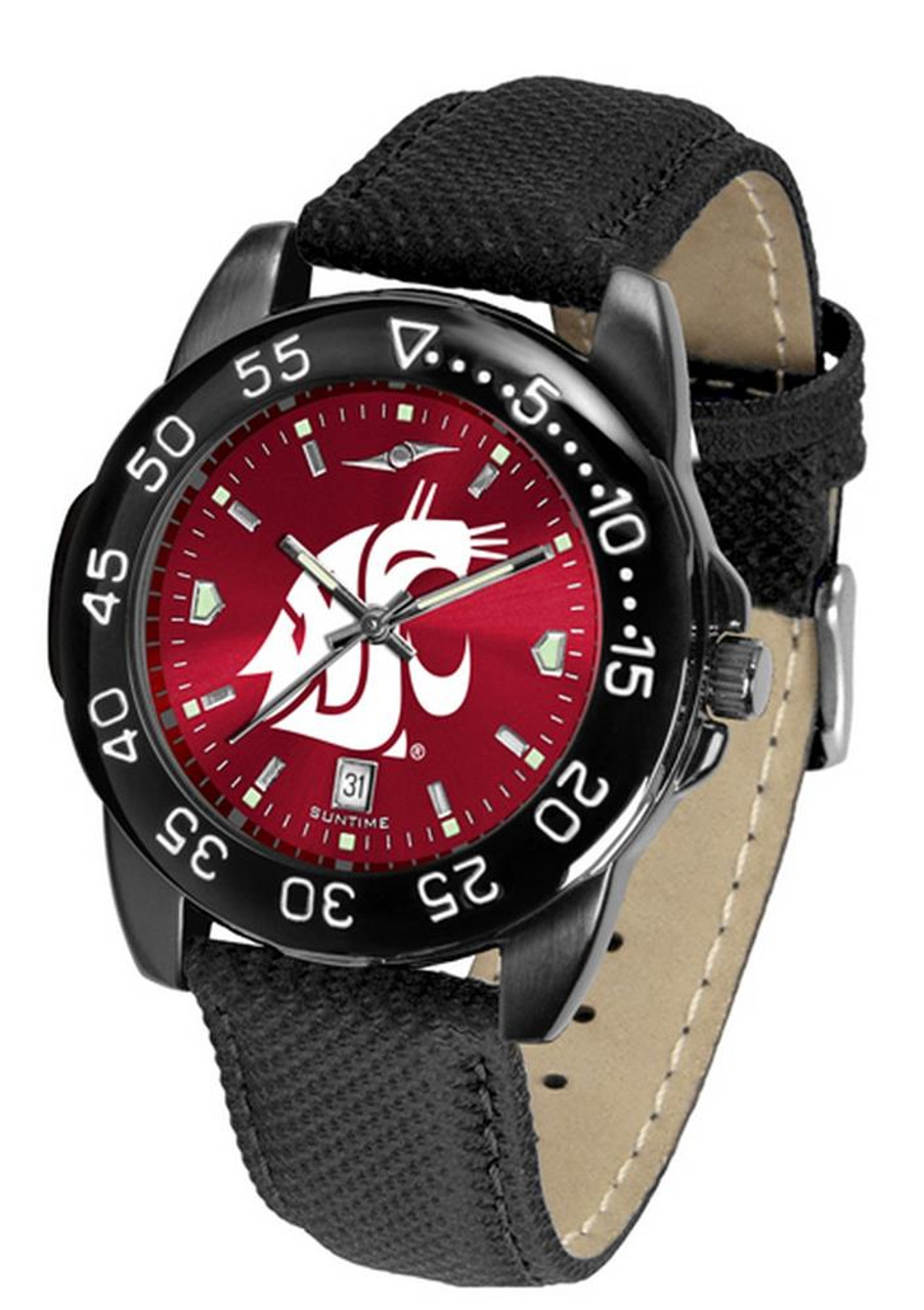 Men's Washington State University Watch Fantom Bandit Black Leather