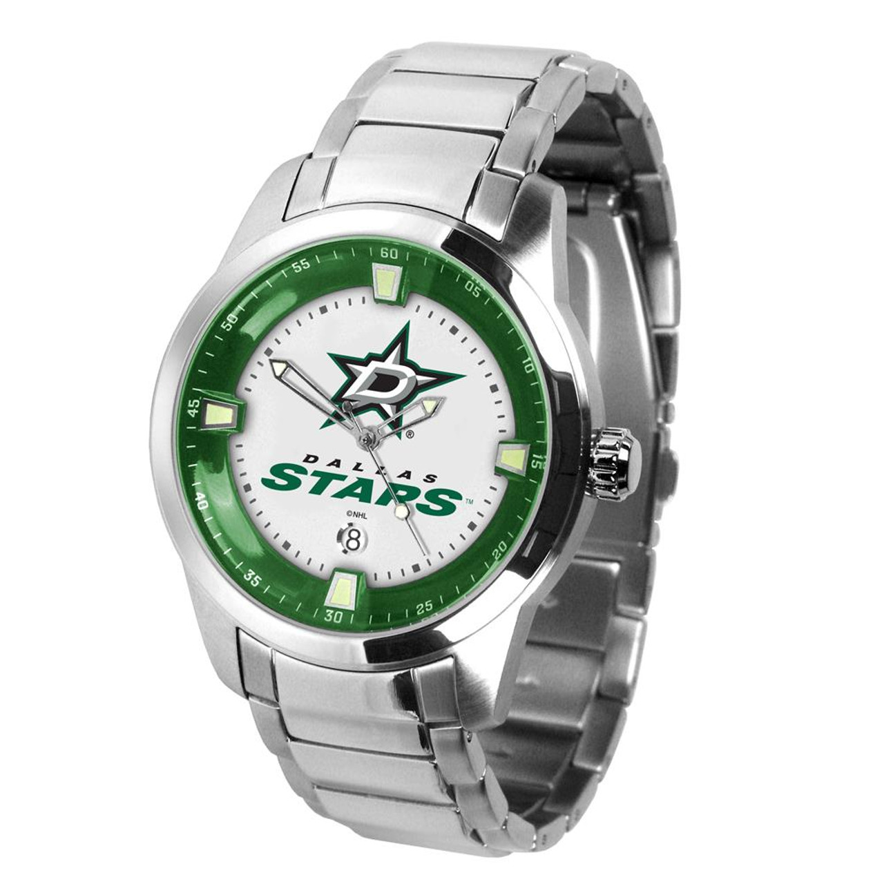 Mens Dallas Stars Watch Stainless Steel Titan Watch