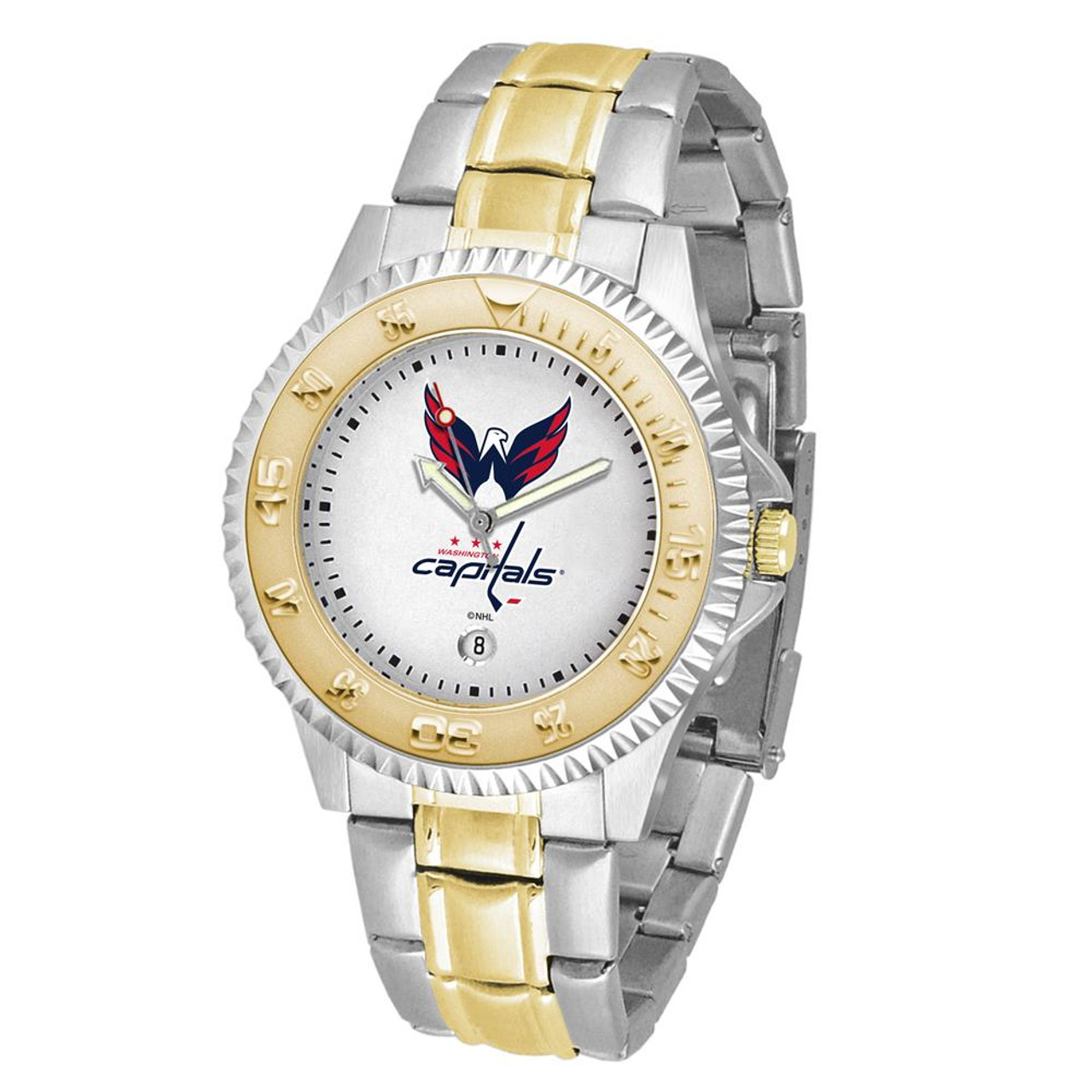 Men's Washington Capitals Watch Two-Tone Gold Silver Watch