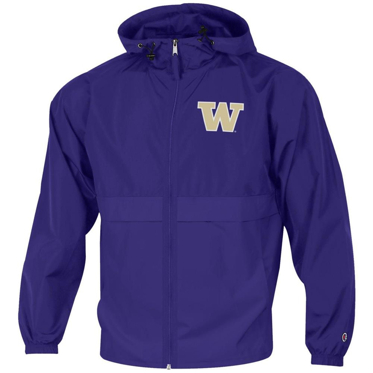 Men's University of Washington Jacket Full Zip Windbreaker Jacket