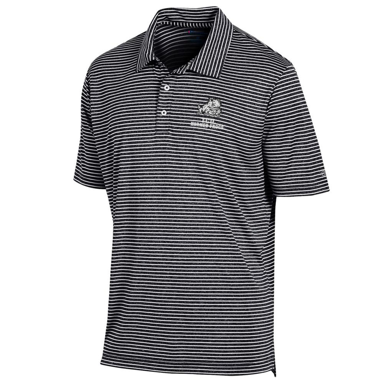 Men's TCU Texas Christian Polo Striped Staduim Stripe Polo