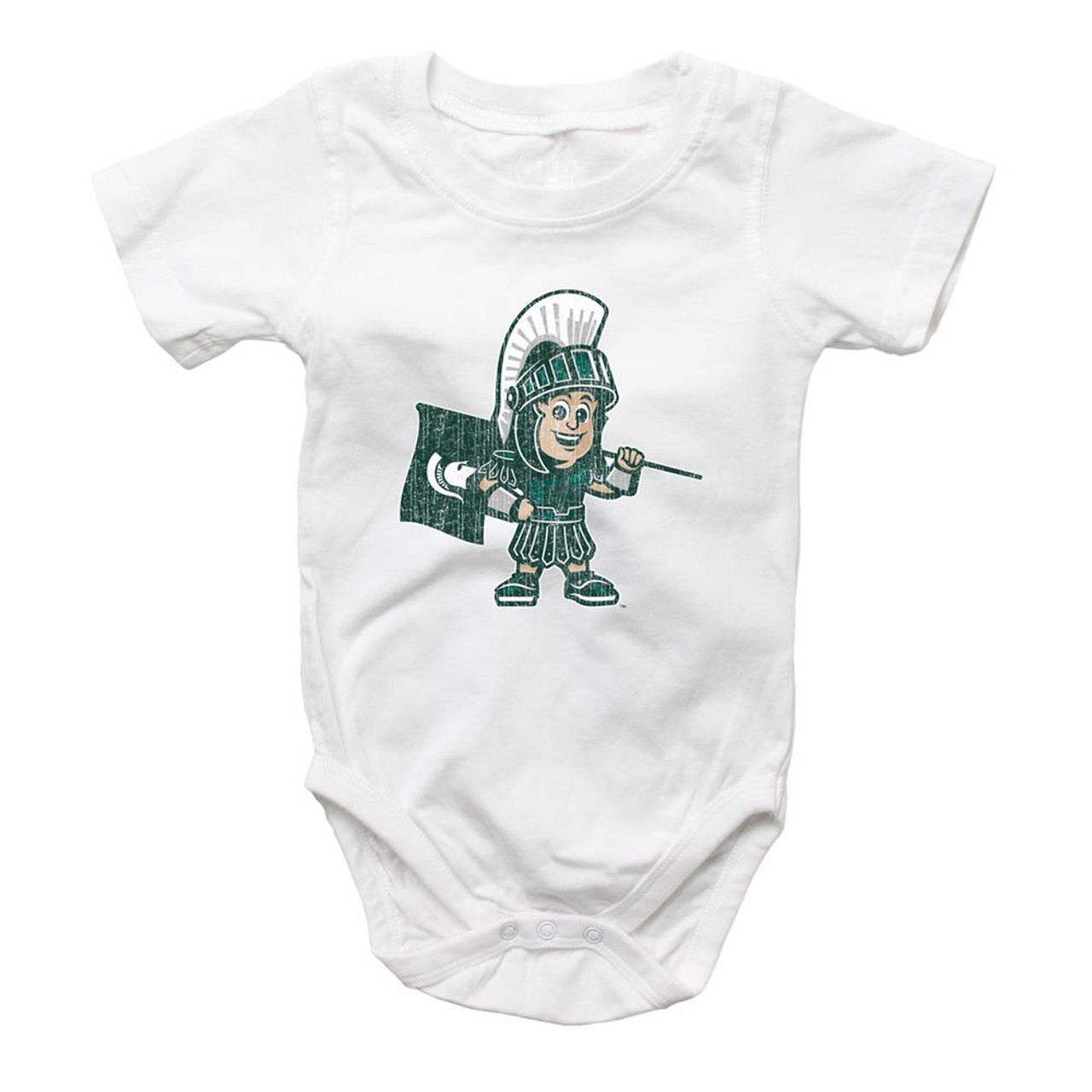 Infant Michigan State University Bodysuits 3 Pack Organic Cotton Set