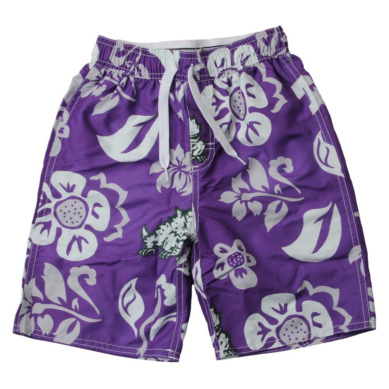 Youth TCU Texas Christian Swim Trunks Boys Floral Swim Shorts