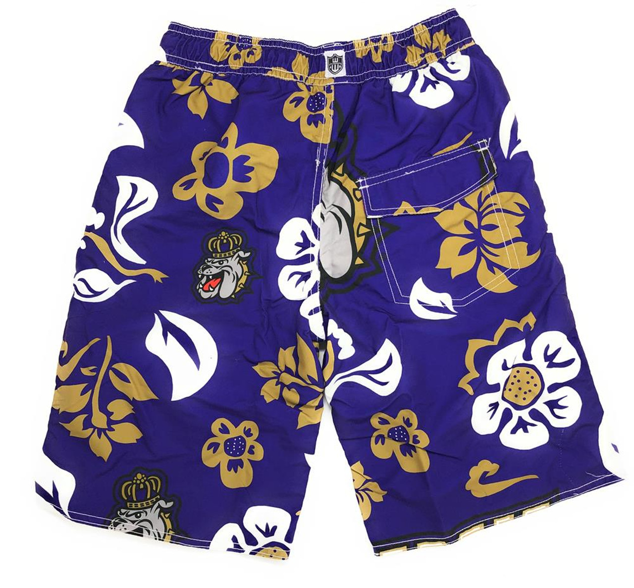 Youth James Madison Dukes Swim Trunks Boys Floral Swim Shorts