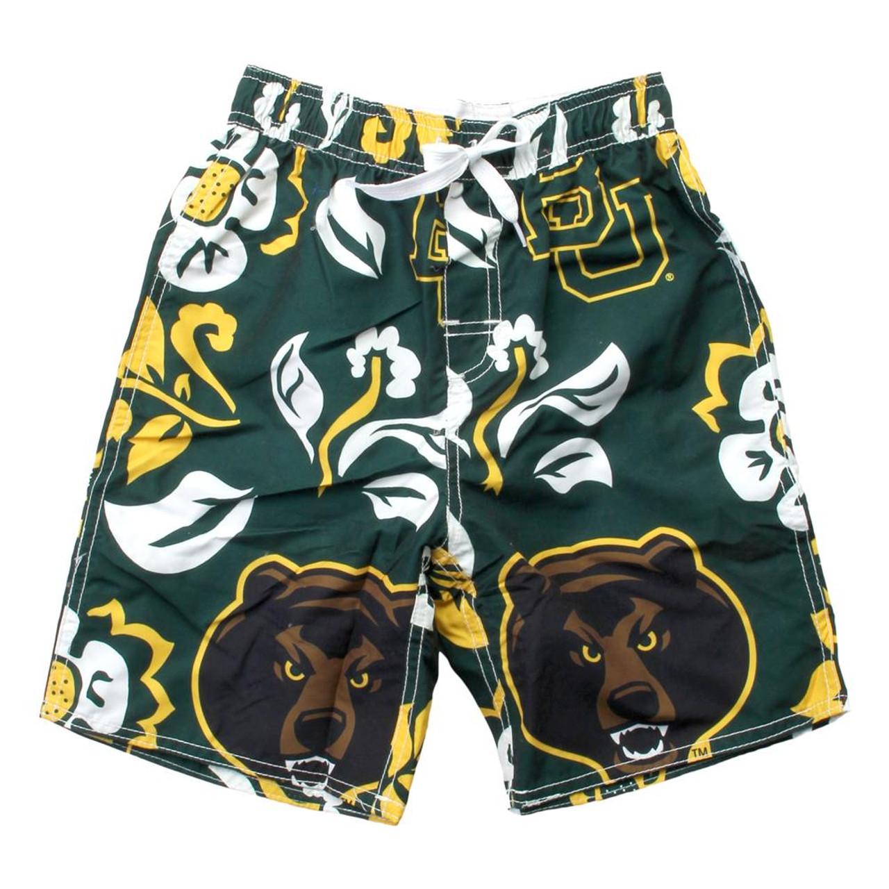 Youth Baylor University Bears Swim Trunks Boys Floral Swim Shorts
