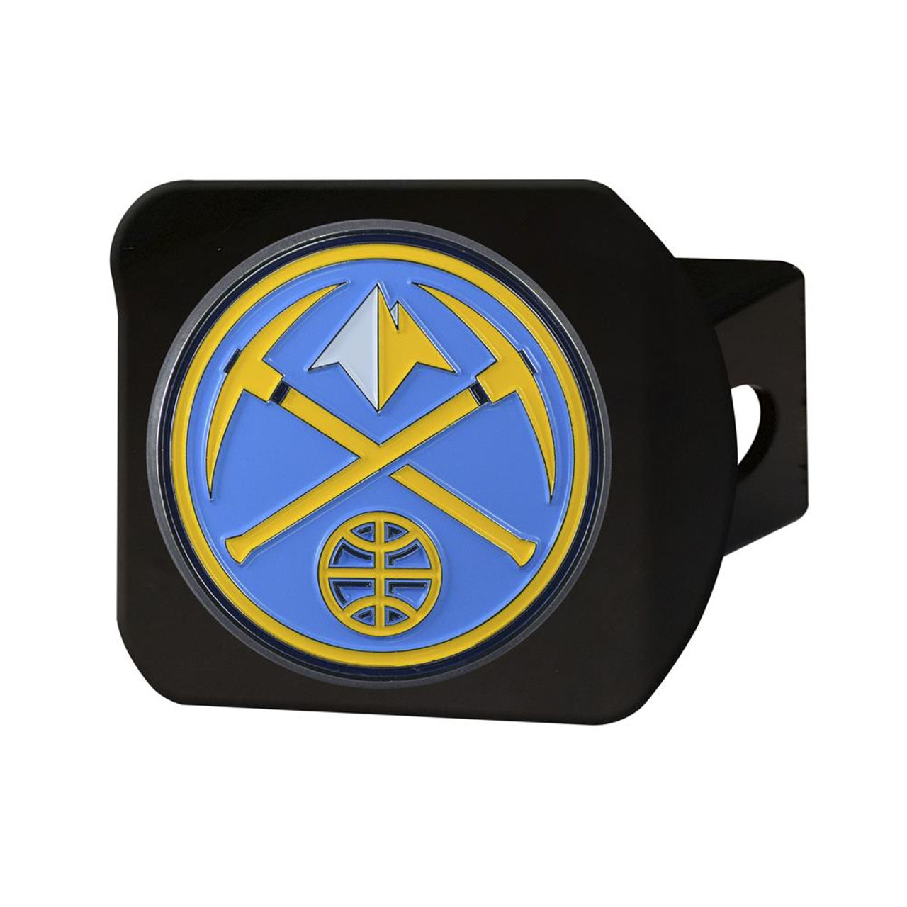 Black Denver Nuggets Hitch Cover with Color Emblem
