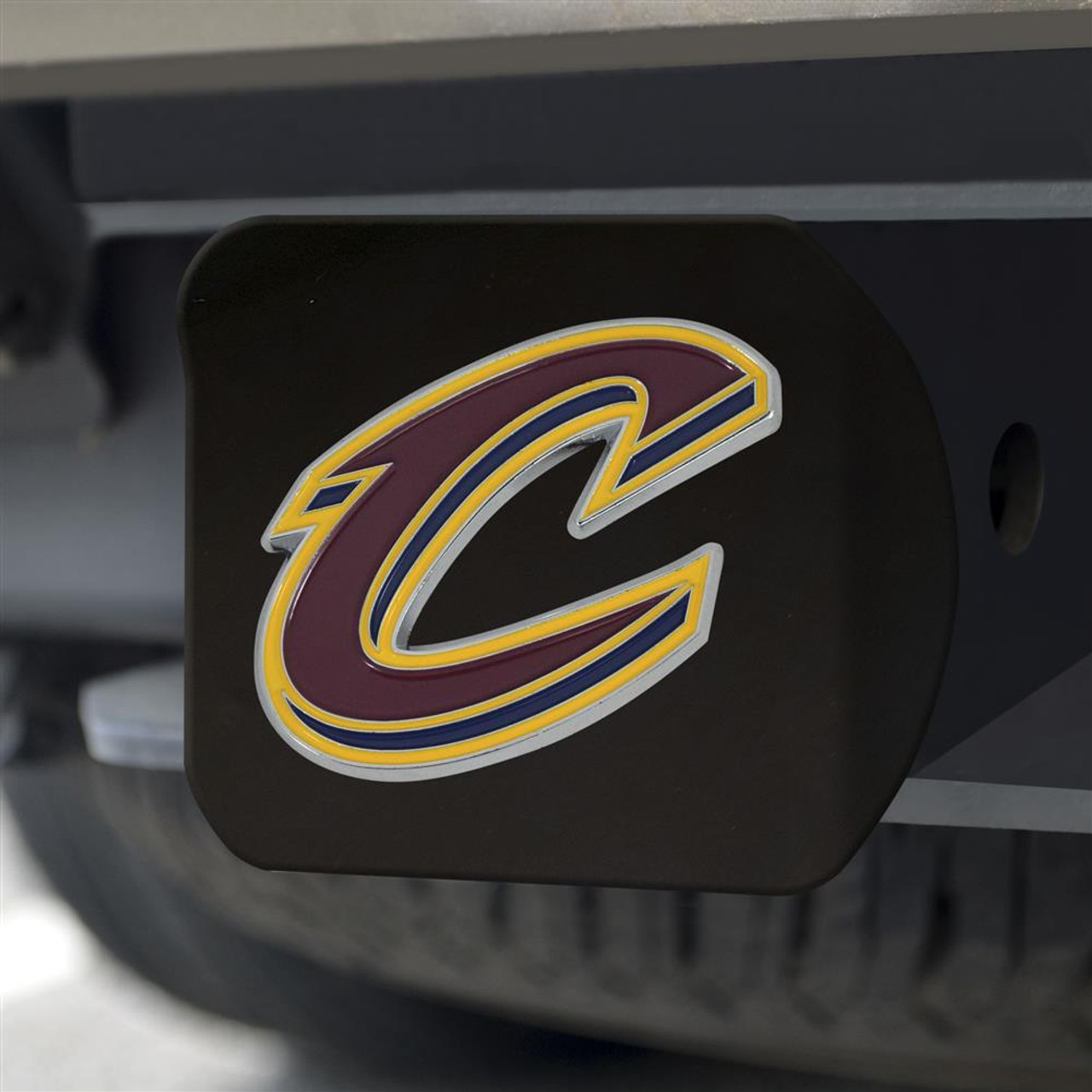 Black Cleveland Cavaliers Hitch Cover with Color Emblem