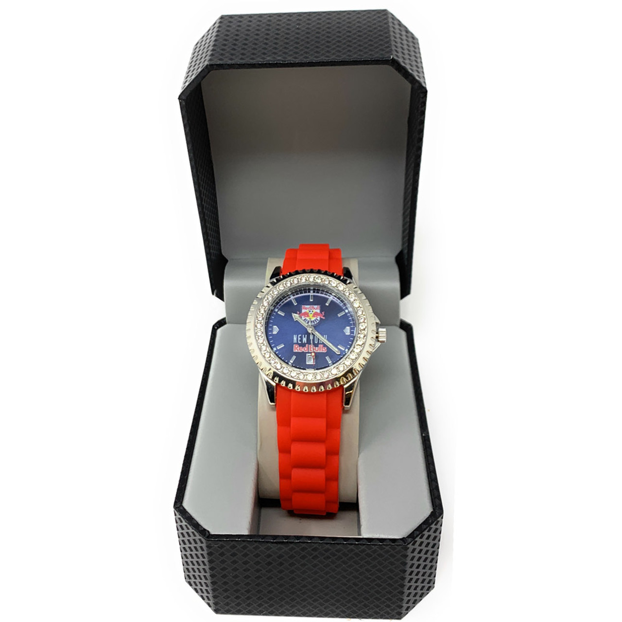 Ladies San Jose Earthquakes Watch Silcone Band Crystal Bezel