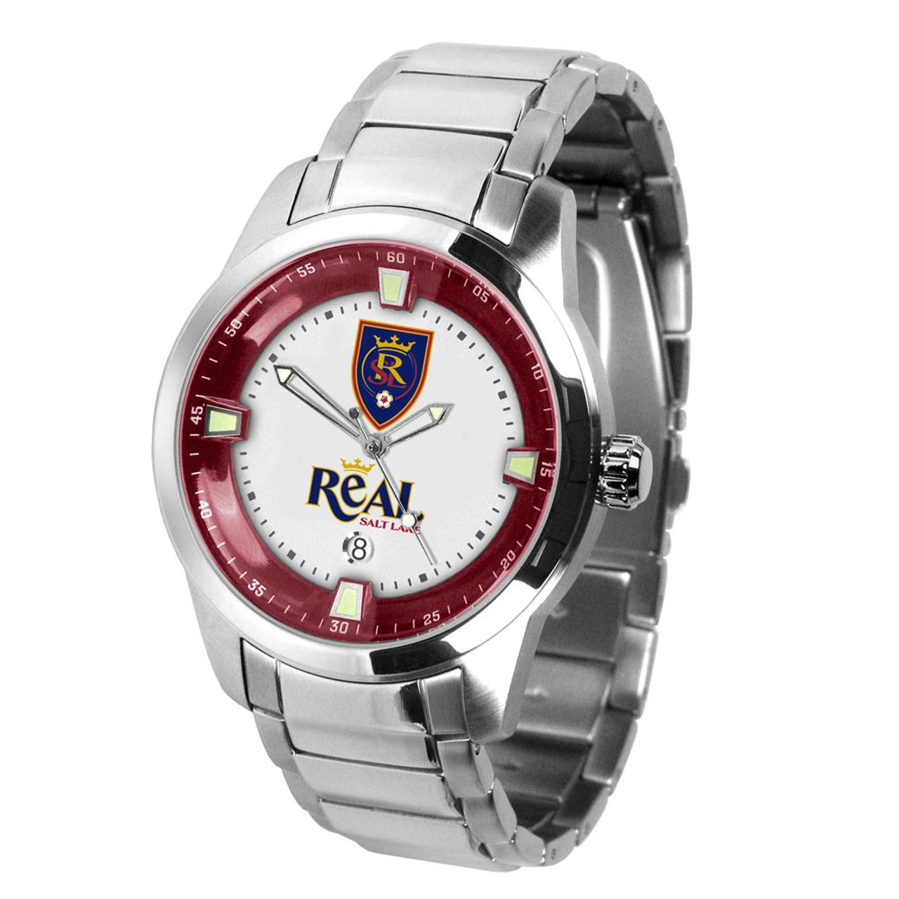 Mens Real Salt Lake Watch Stainless Steel Titan Watch