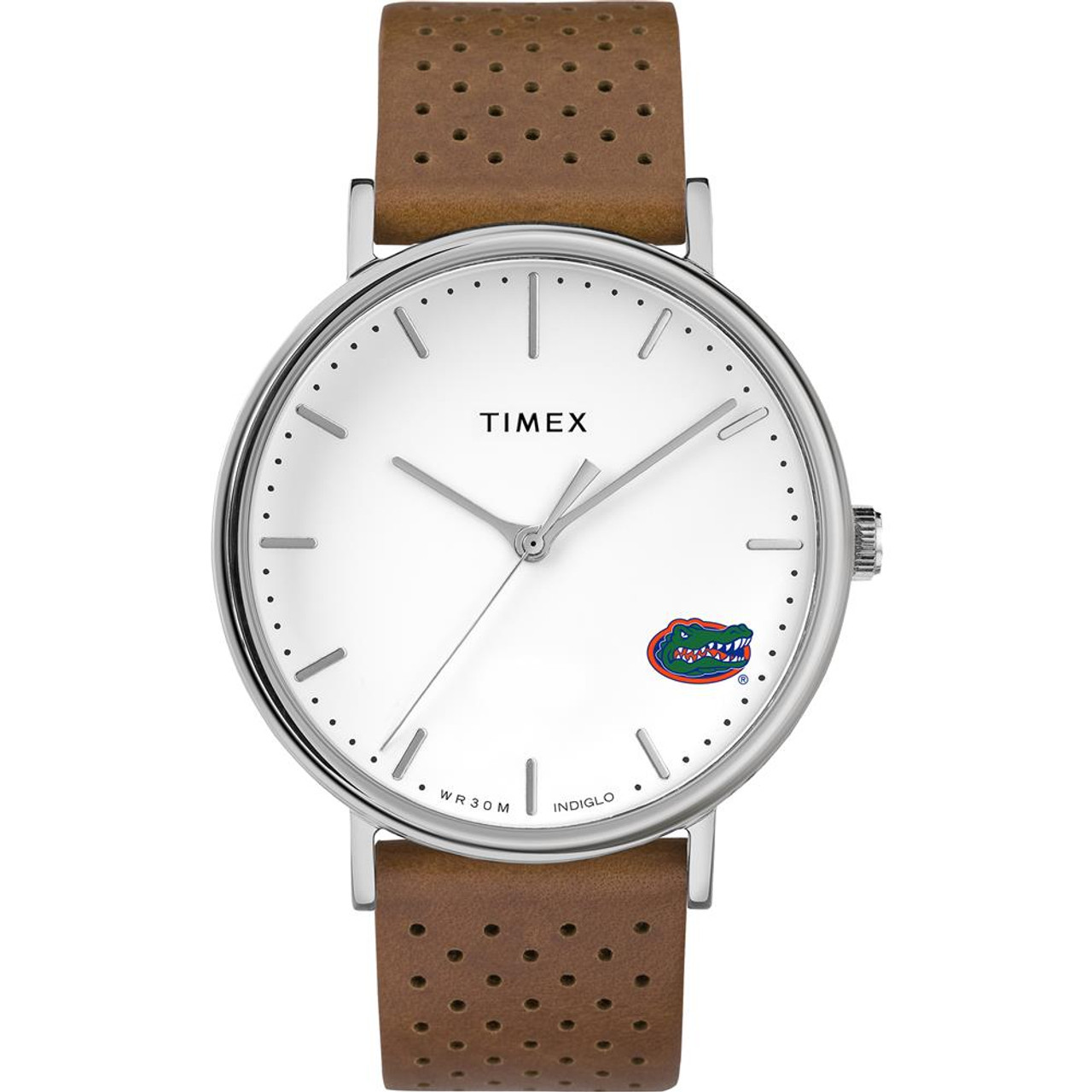 Womens Timex University of Florida Gators Watch Bright Whites Leather