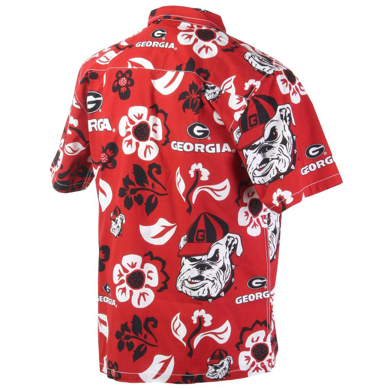 Men's Georgia Bulldogs UGA Floral Shirt Button Up Beach Shirt