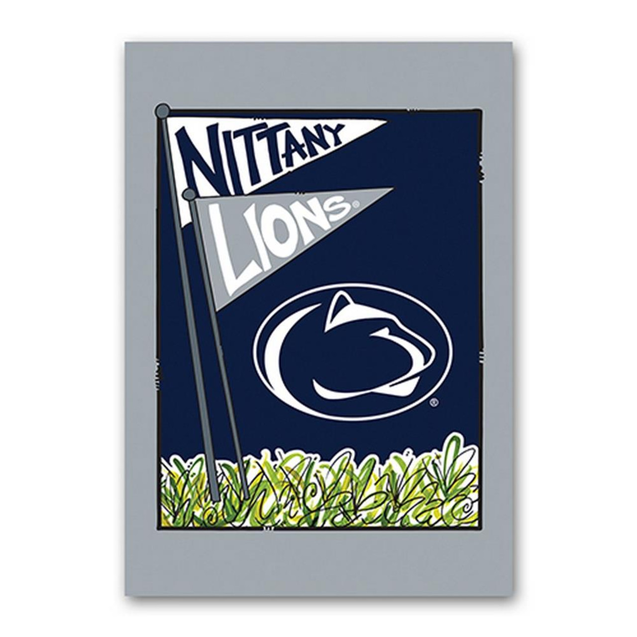 Penn State University House Flag 40x28 Two Sided House Flag