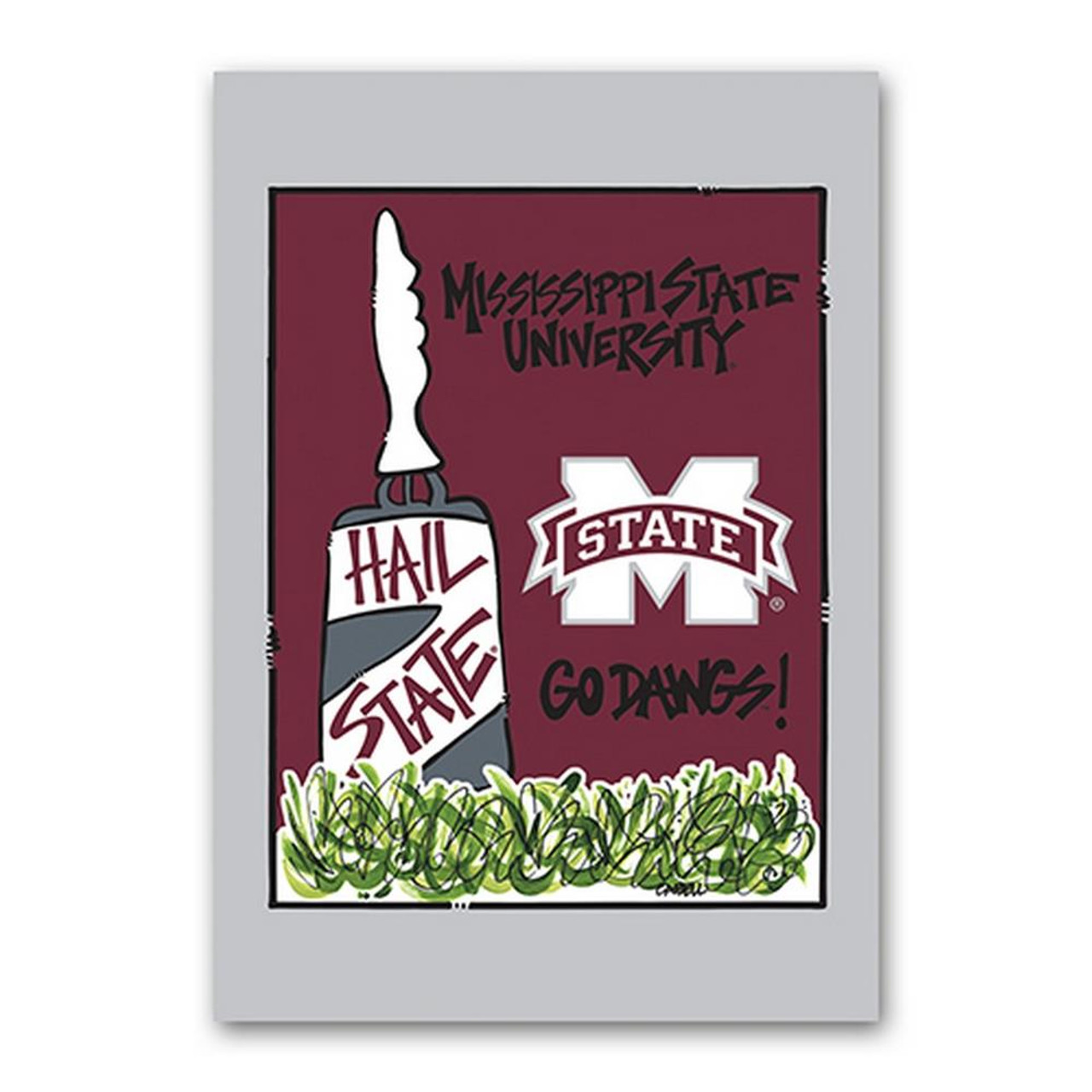 Mississippi State Bulldogs House Flag 40x28 Two Sided House Flag