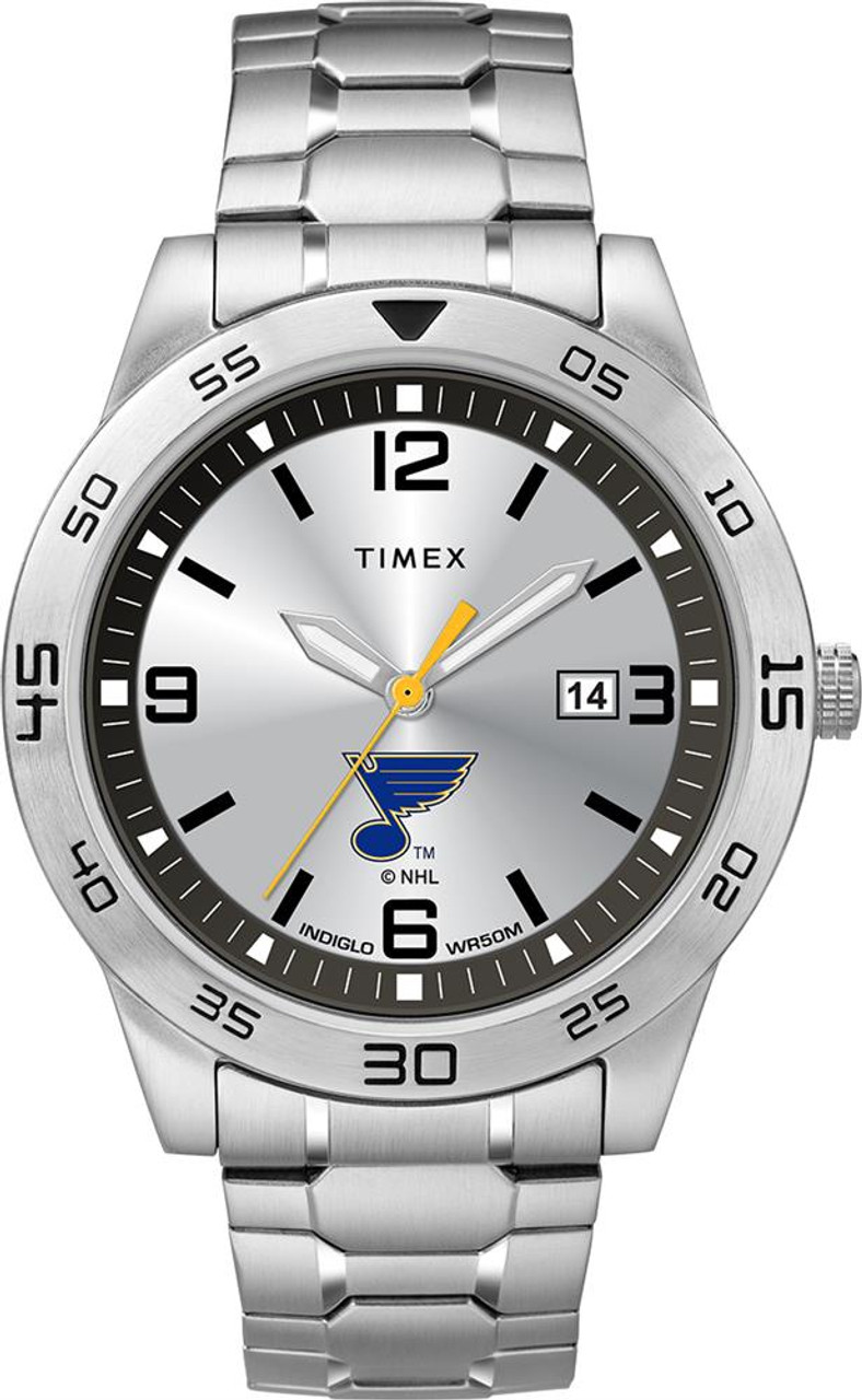 Men's Saint Louis Blues St Watch Timex Citation Steel Watch