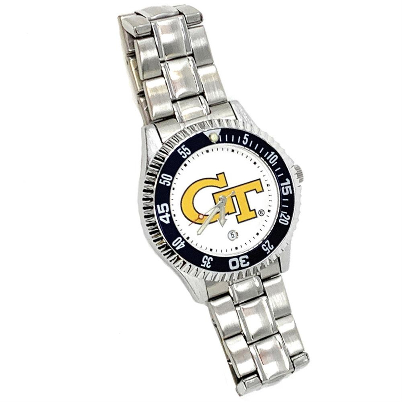 Men's TCU Texas Christian Watch Competitor Stainless Steel