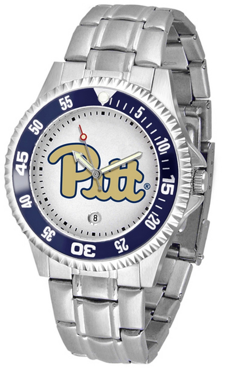 Men's Pitt University Panthers Watch Competitor Stainless Steel