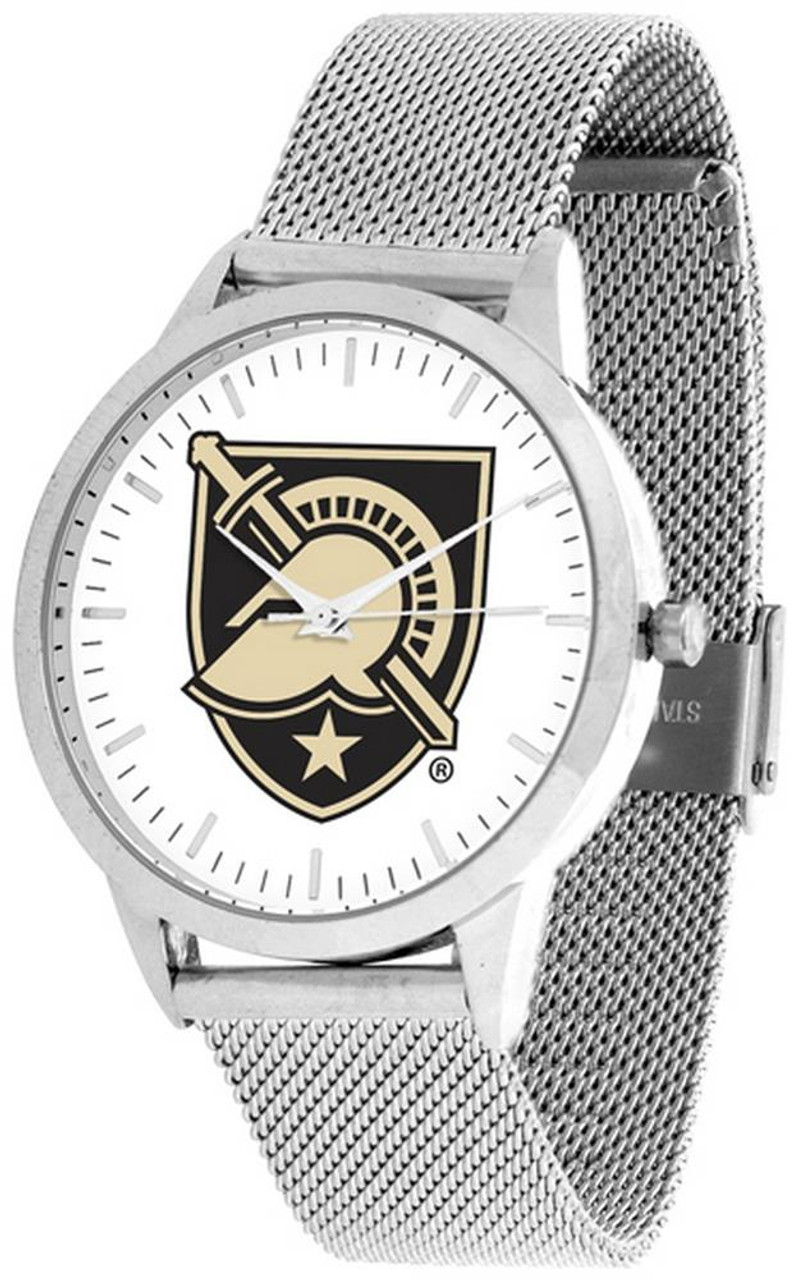 Army Black Knights Watch Silver Mesh Statement Wristwatch