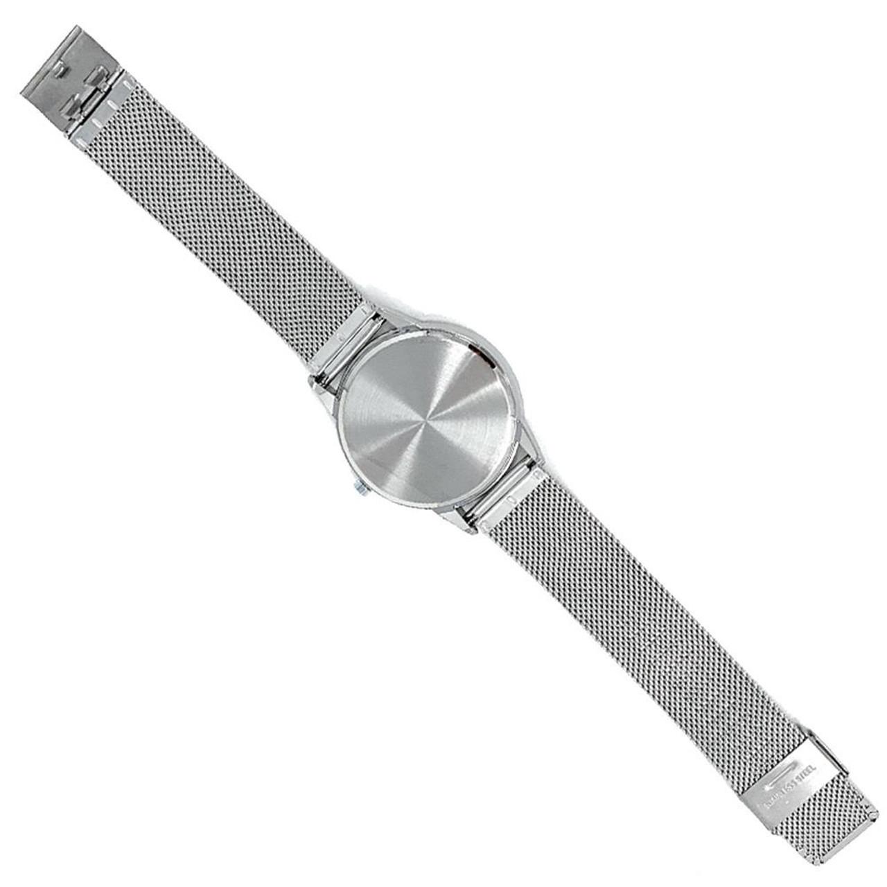 University of Iowa Hawkeyes Watch Silver Mesh Statement Wristwatch