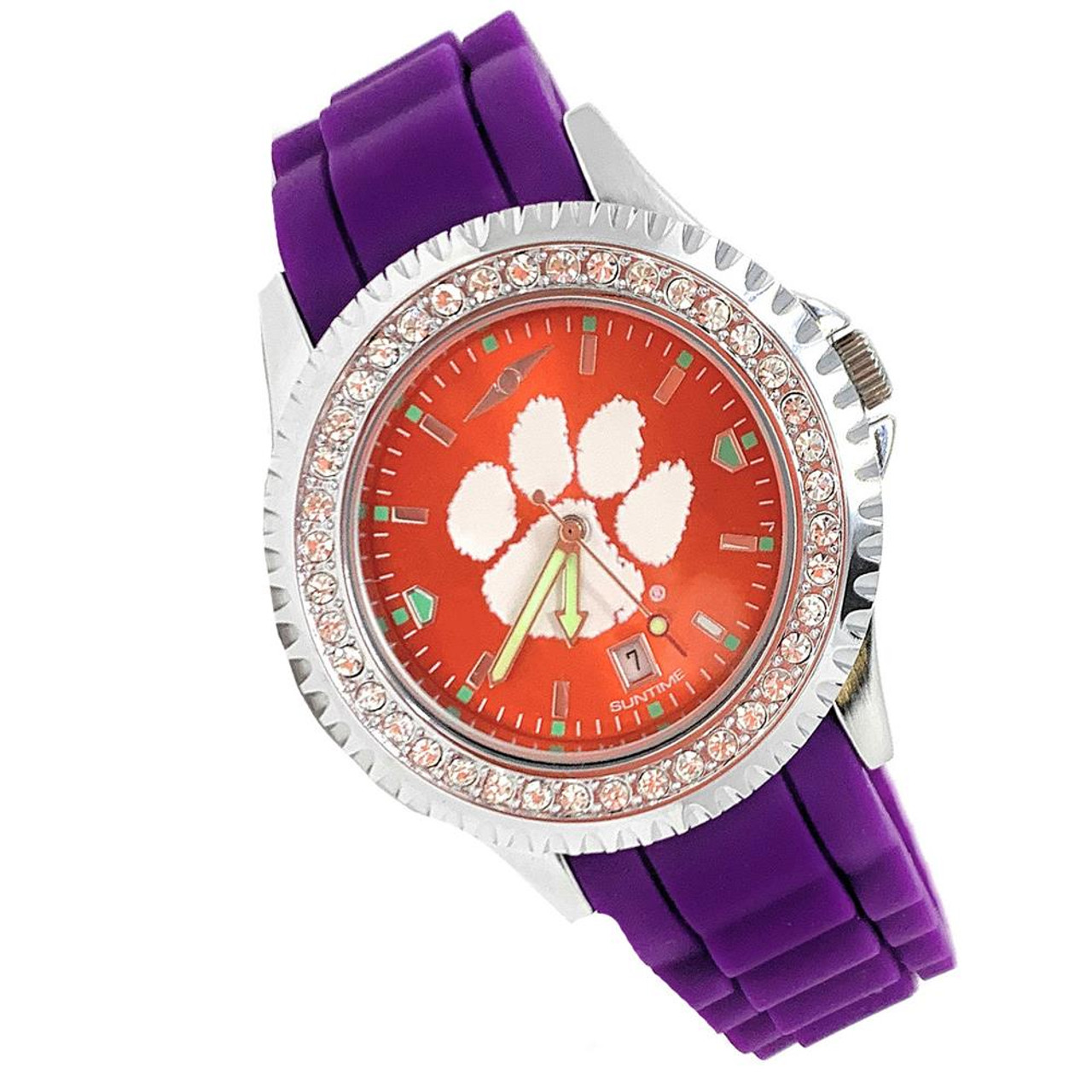 Women's University of Virginia Cavaliers Watch Sparkle Bezel Silicone Band