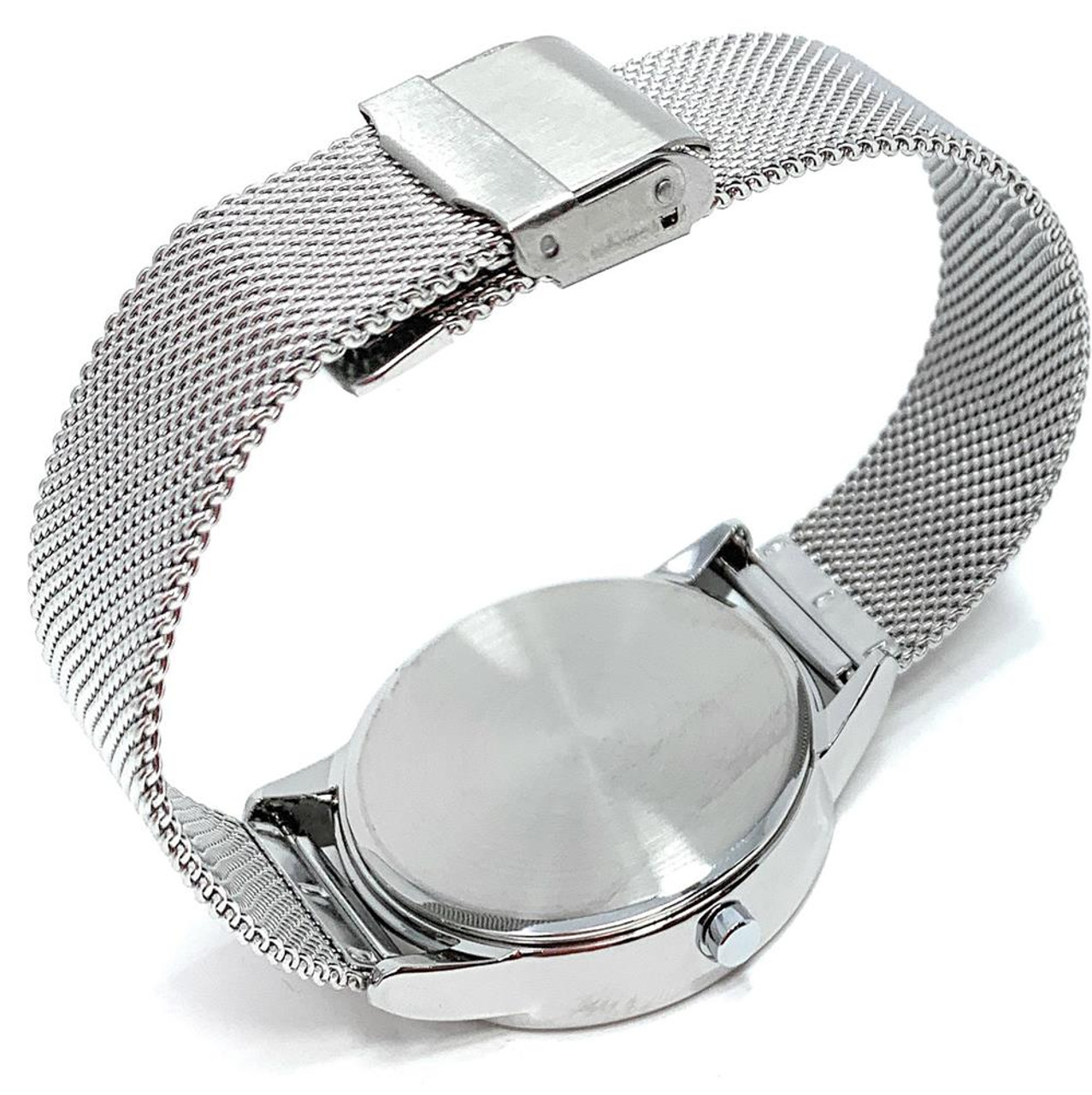 Arizona Wildcats Watch Silver Mesh Statement Wristwatch