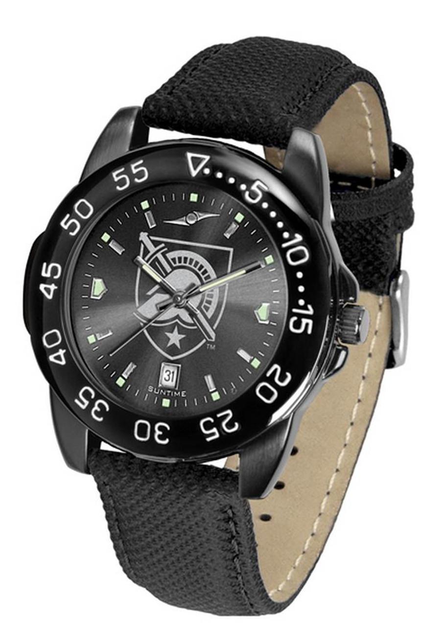 Men's Army Black Knights Watch Fantom Bandit Black Leather