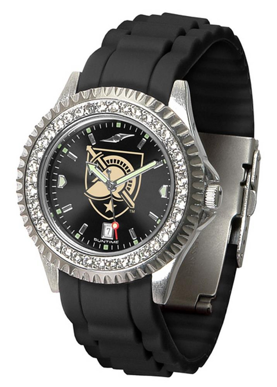 Women's Army Black Knights Watch Sparkle Bezel Silicone Band