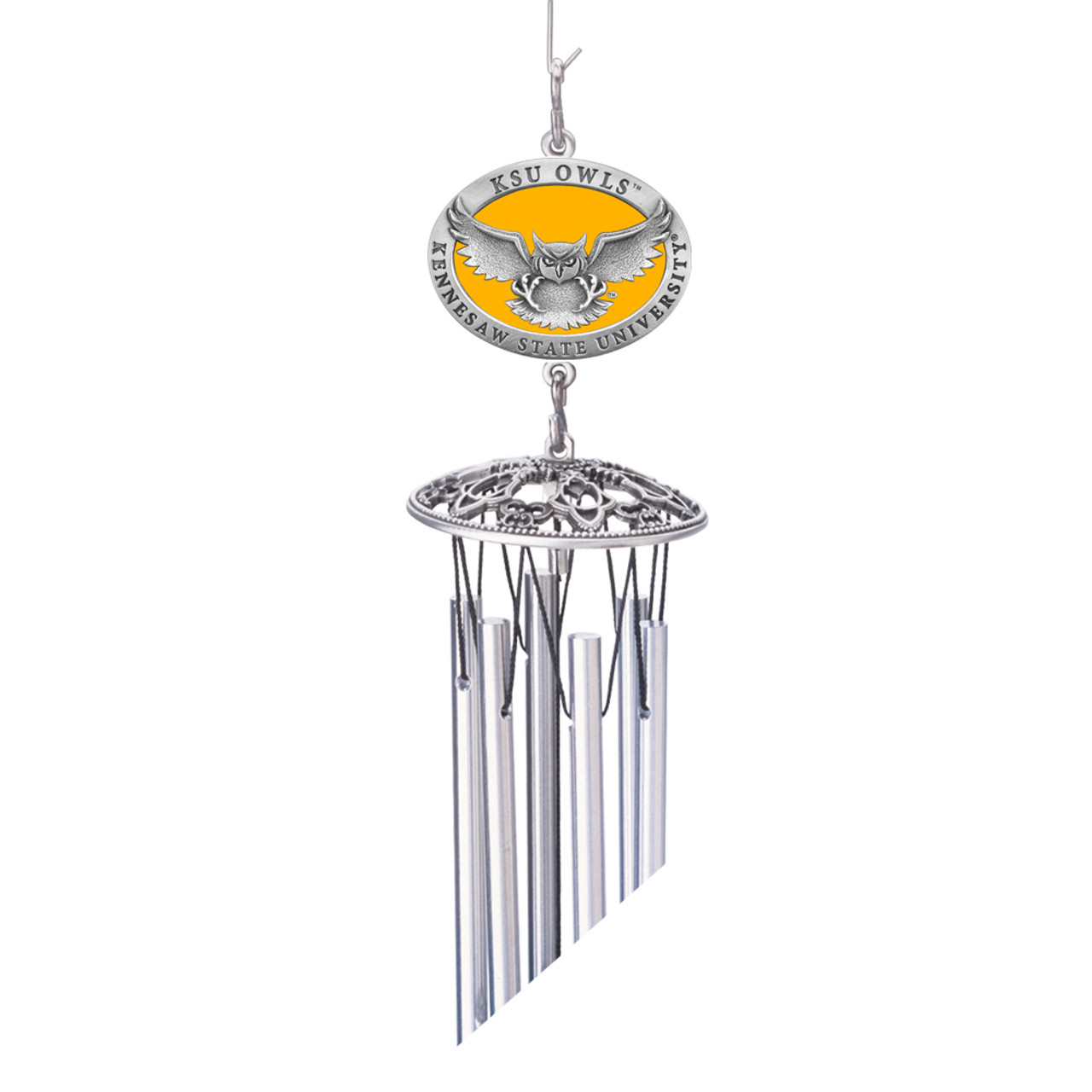 Kennesaw State Wind Chimes Colored Pewter Windchimes 24""