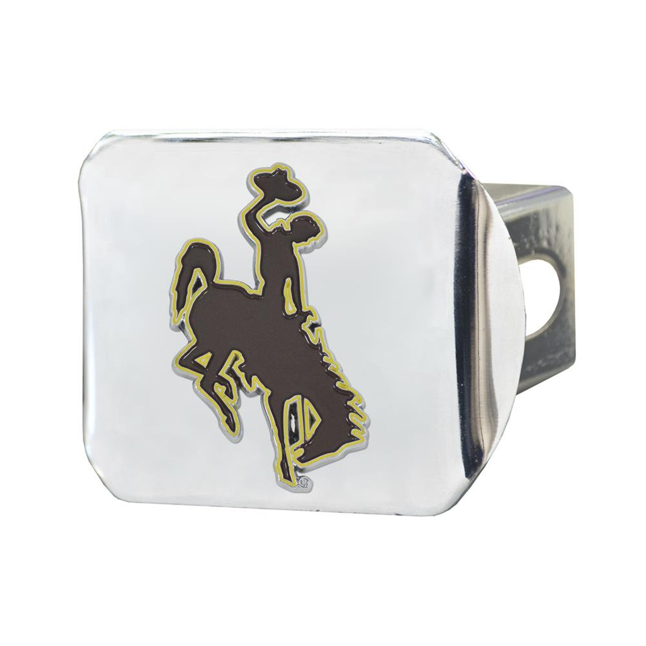 University of Wyoming Cowboys Trailer Hitch Chrome Hitch Cover