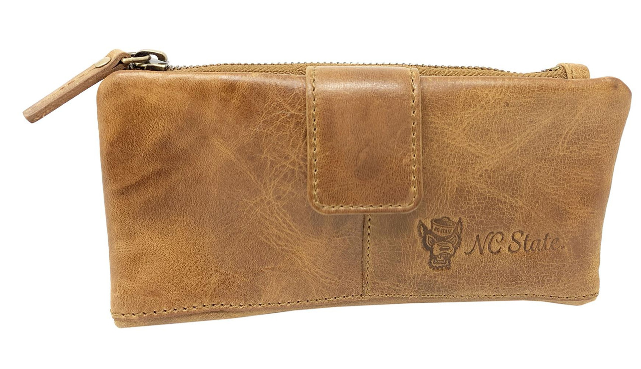 Women's NCSU NC State Wolfpack Clutch Wallet Leather Snap Clutch