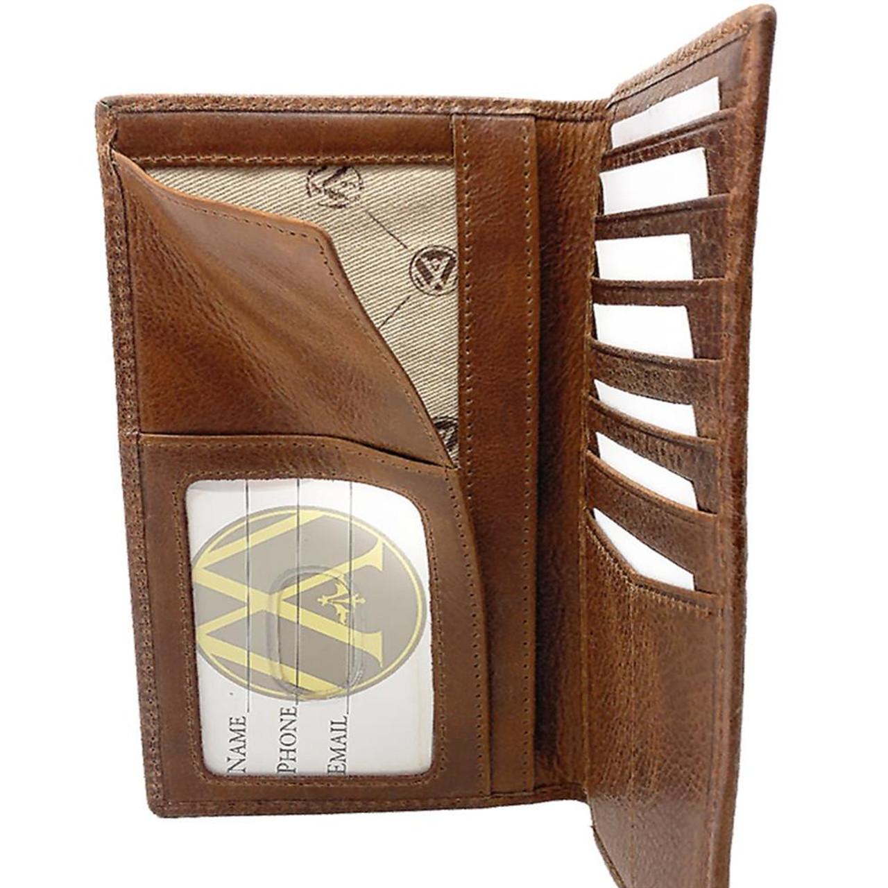 Men's NCSU NC State Wolfpack Leather Secretary Pocket Wallet