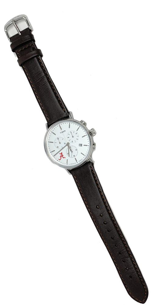 Mens University of Utah Utes Watch Chronograph Leather Band Watch