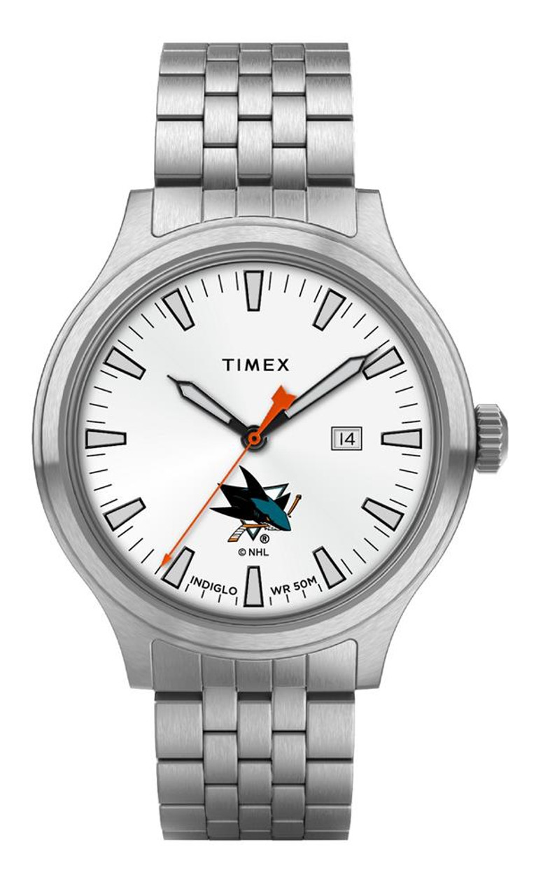 Men's San Jose Sharks Watch Stainless Steel Top Brass