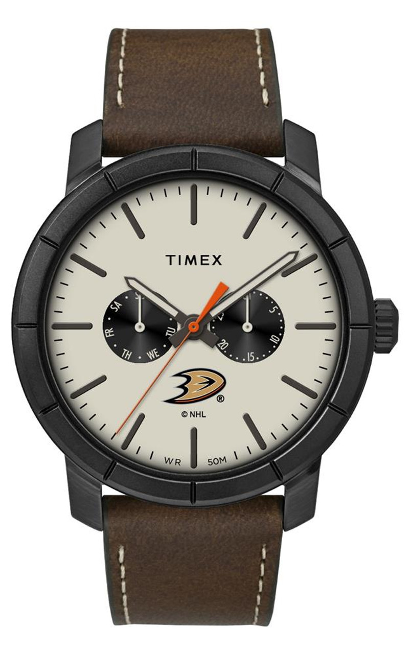 Men's Anaheim Ducks Timex Watch Home Team Leather Watch