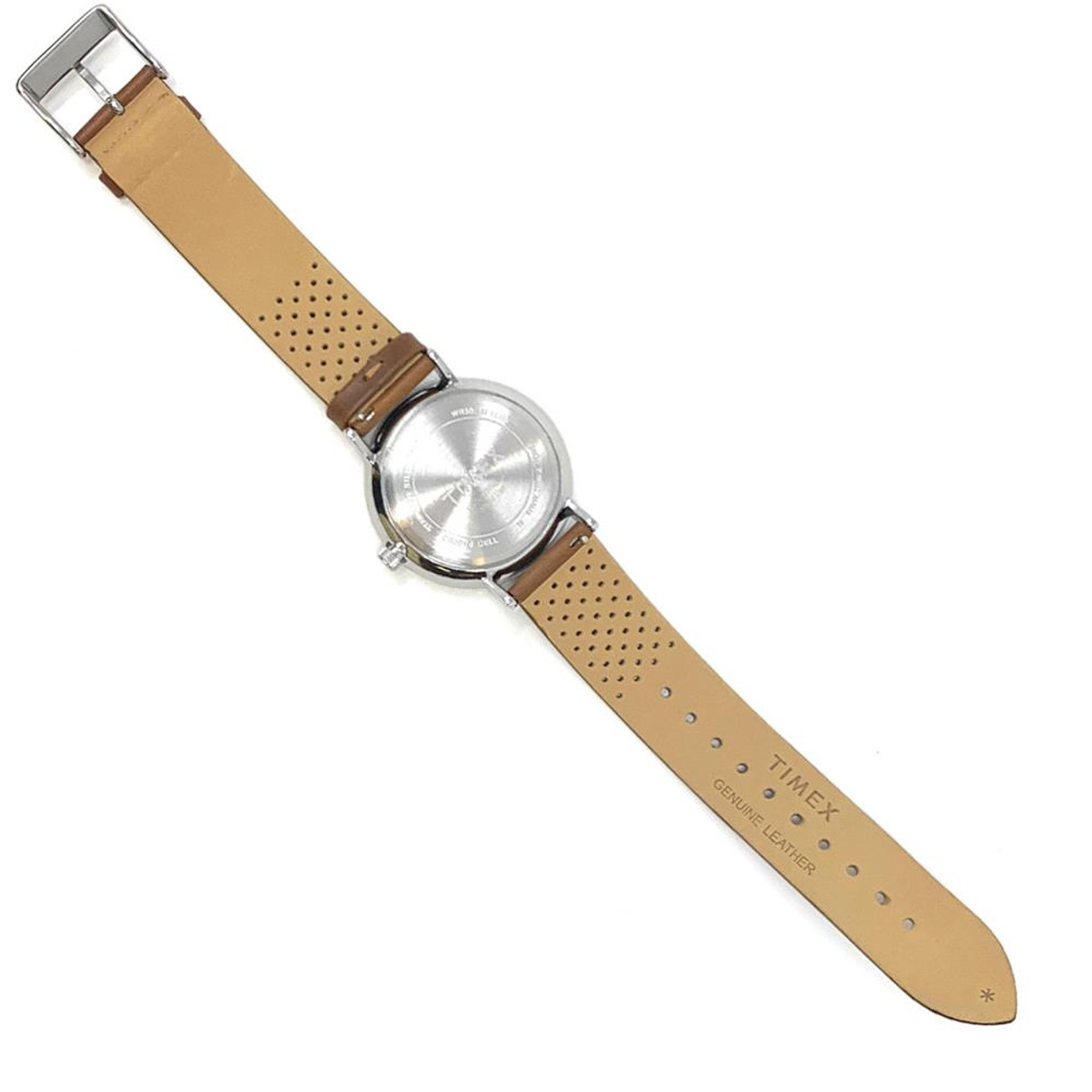 Womens Timex Kansas Jayhawks KU Watch Bright Whites Leather