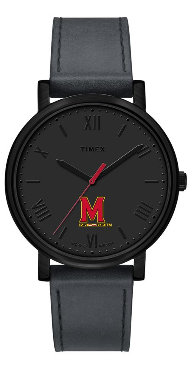 Ladies Timex University of Maryland Terps Watch Black Night Game Watch