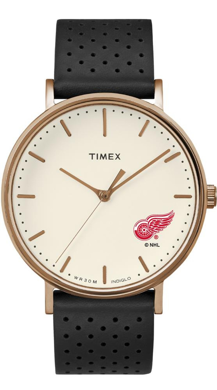 Ladies Timex Detroit Red Wings Watch Rose Gold Grace Watch