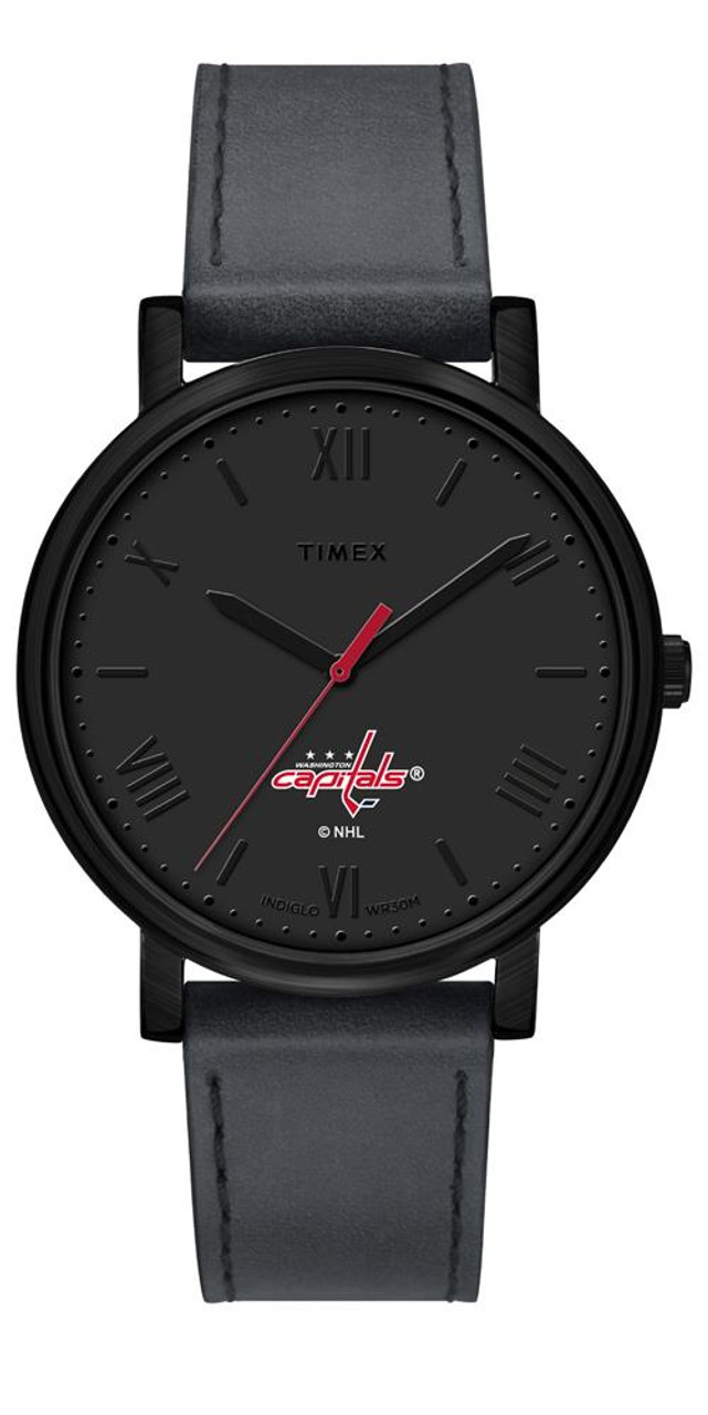 Ladies Timex Washington Capitals Watch Black Night Game Watch