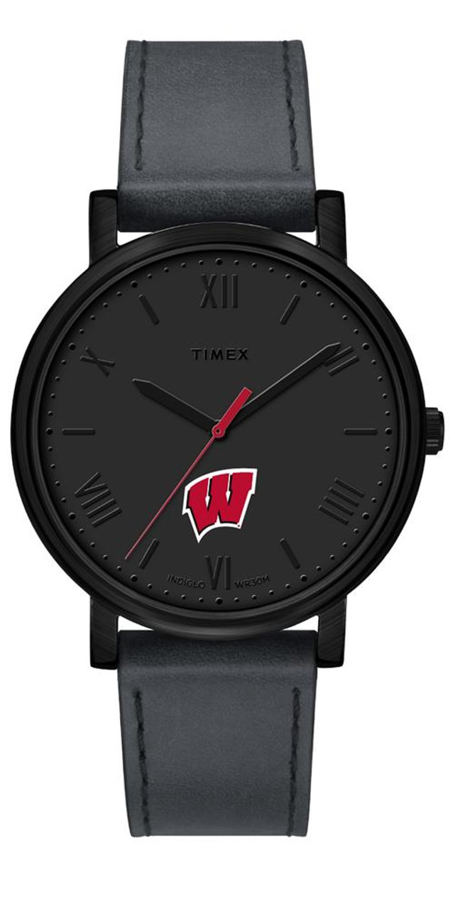 Ladies Timex University of Wisconsin Badgers Watch Black Night Game Watch