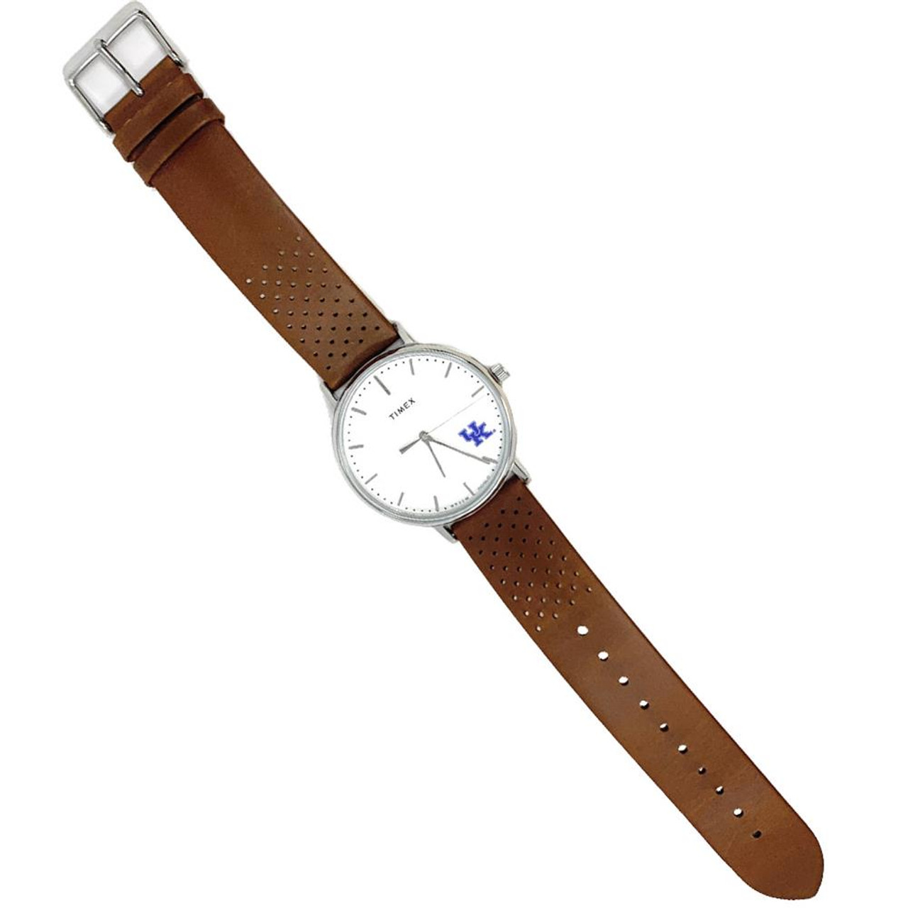 Womens Timex Purdue University Watch Bright Whites Leather