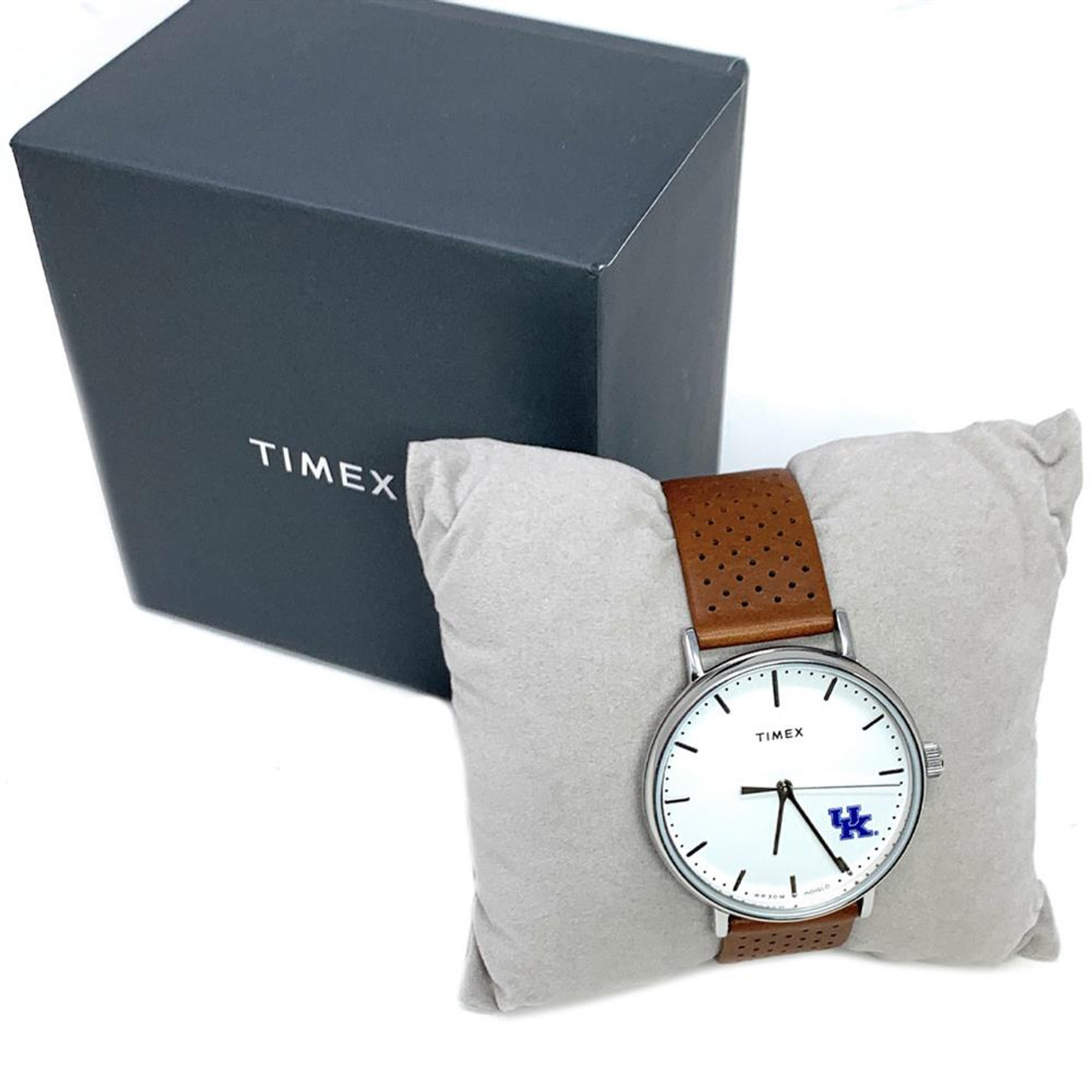Womens Timex Detroit Red Wings Watch Bright Whites Leather