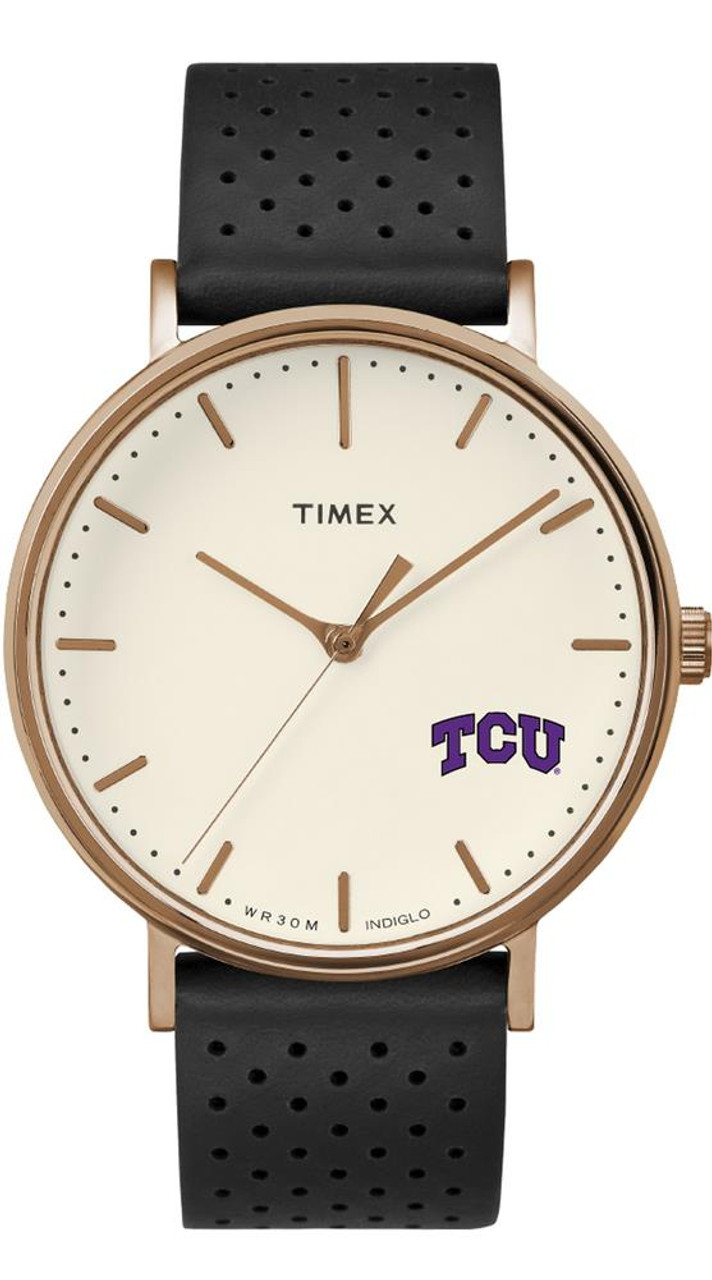 Ladies Timex TCU Texas Christian Watch Rose Gold Grace Watch