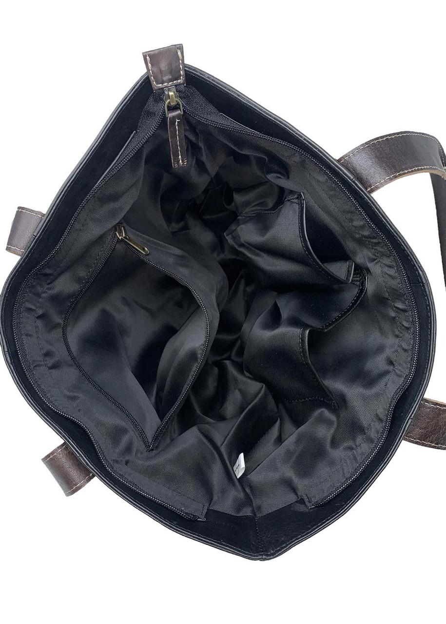 Clemson University Tigers Tote Bag Black Genuine Leather Tote