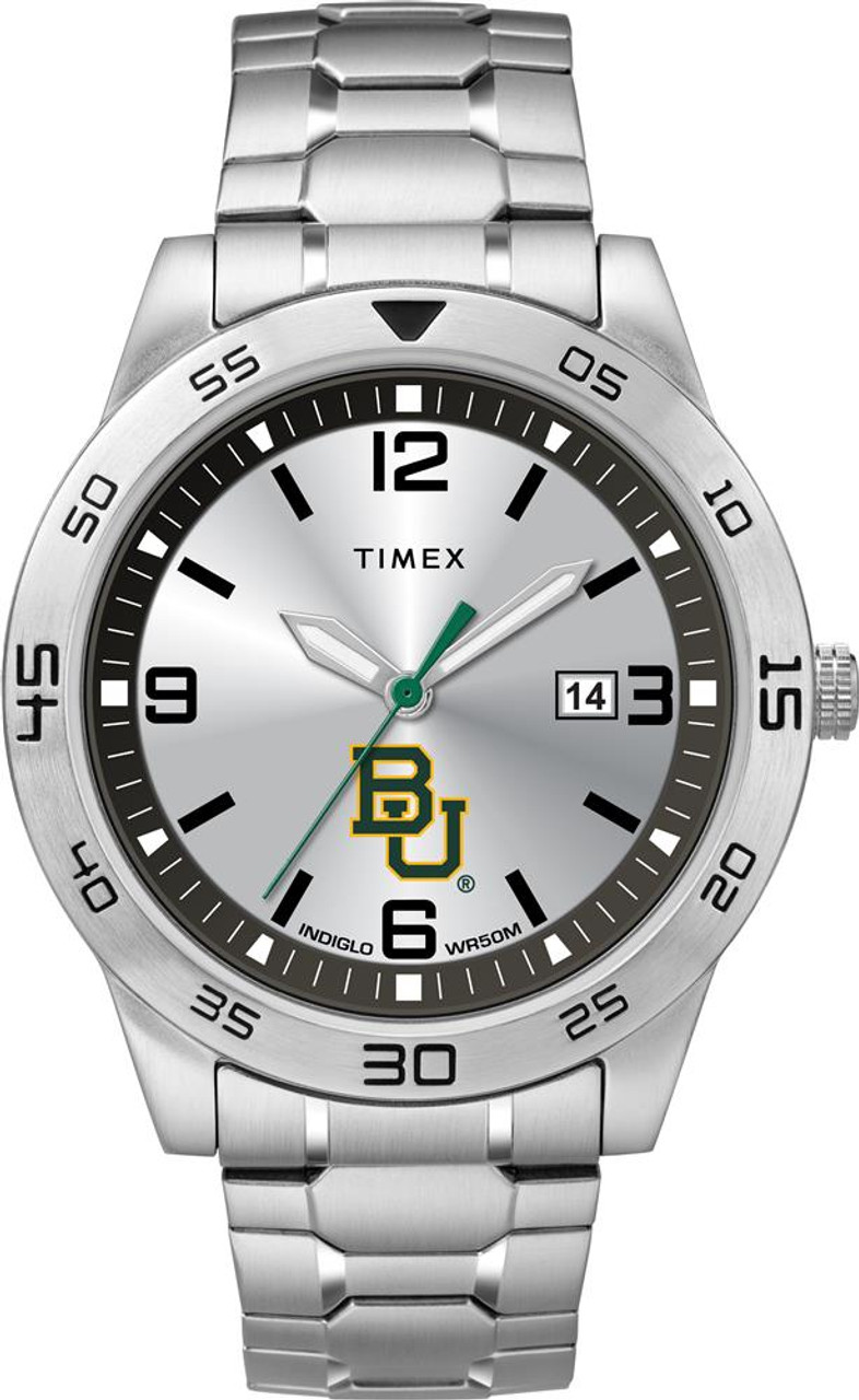 Men's Baylor University Bears Watch Timex Citation Steel Watch