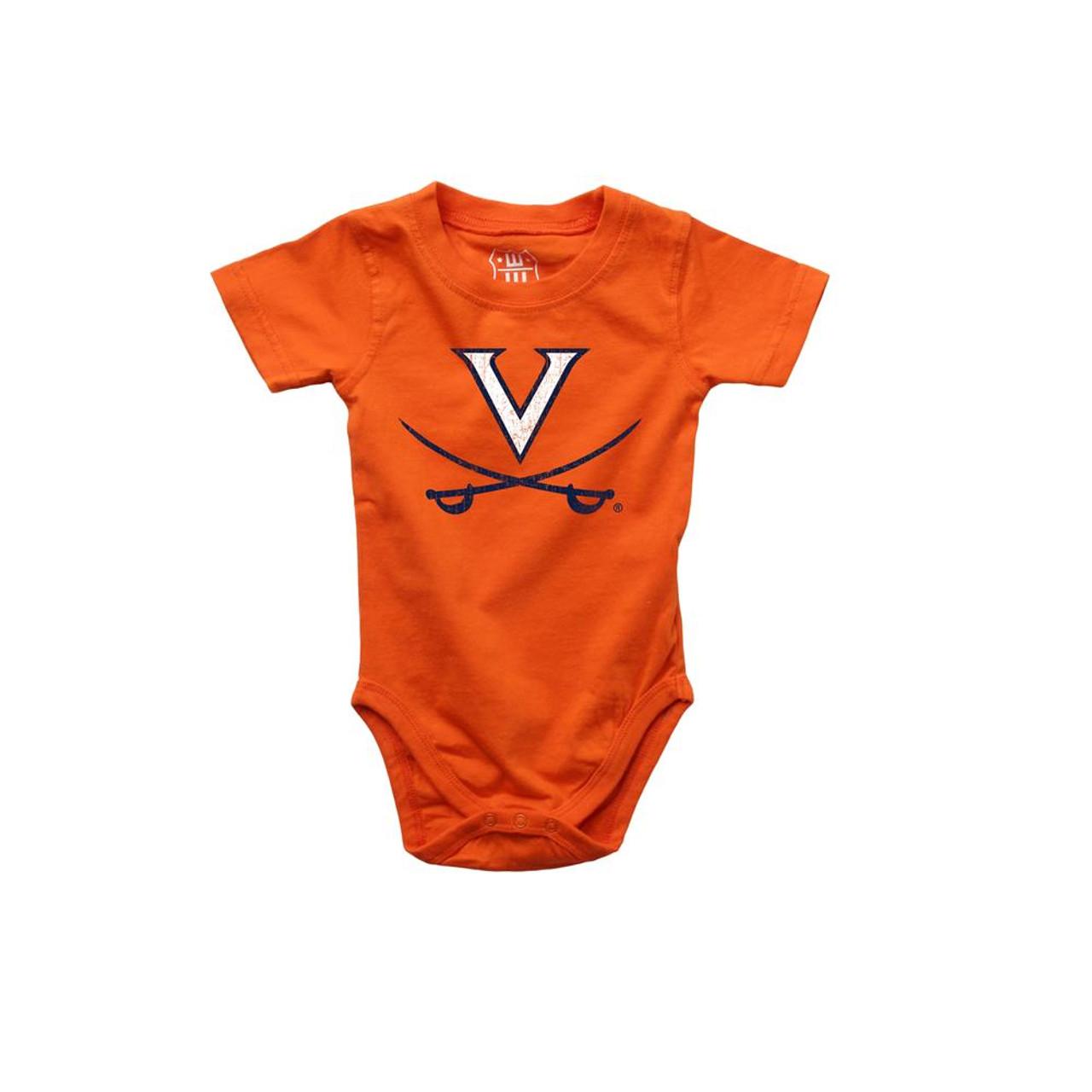 Infant University of Virginia Cavaliers Bodysuits 3 Pack Organic Cotton Set