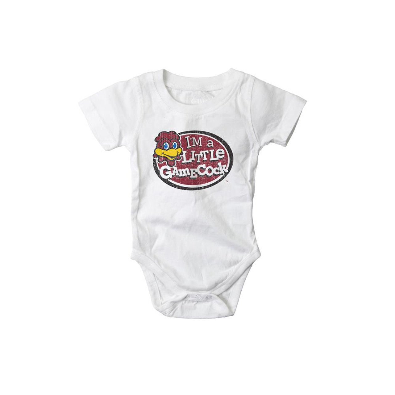 Infant South Carolina Gamecocks Bodysuits 3 Pack Organic Cotton Set