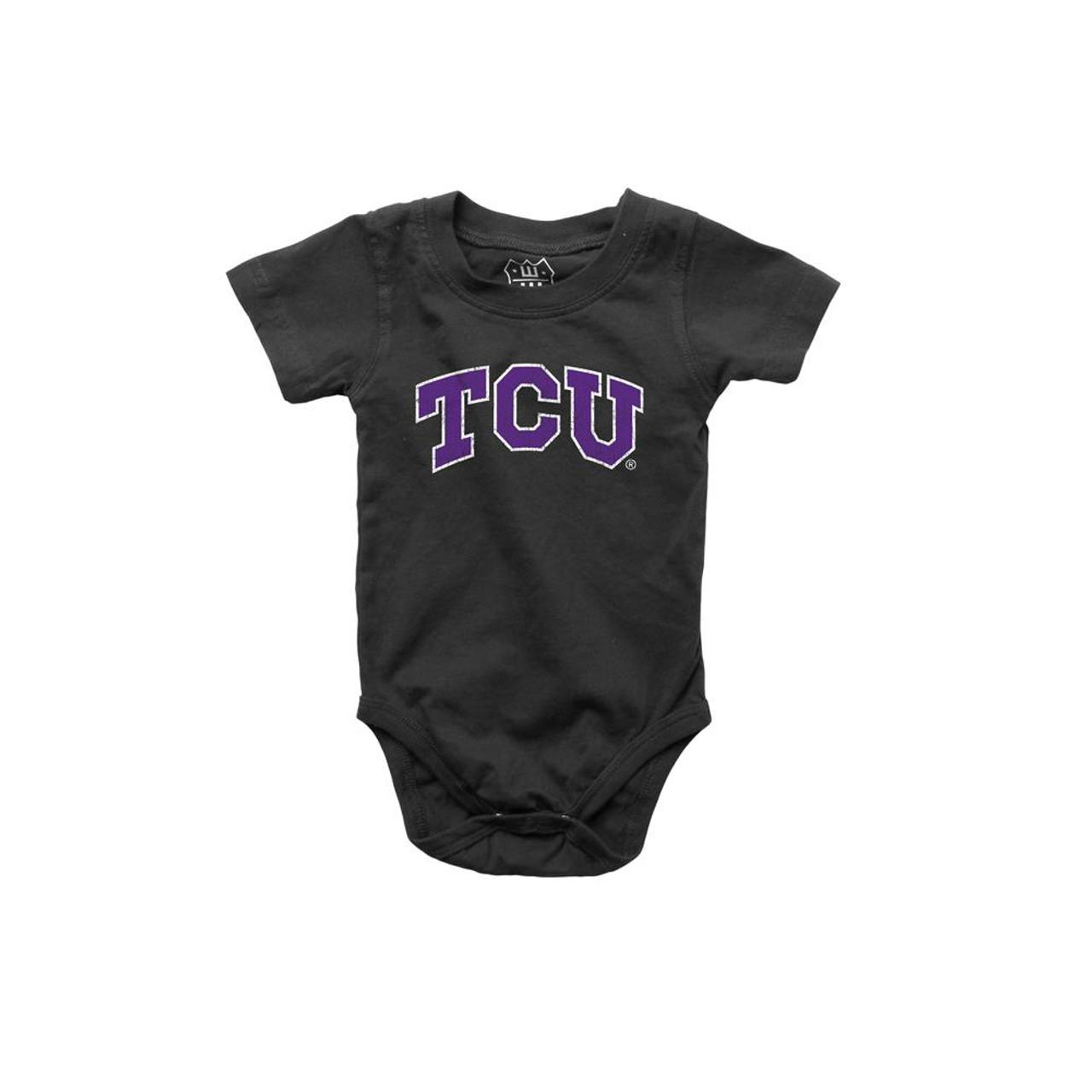 Infant TCU Texas Christian Bodysuits 3 Pack Organic Cotton Set